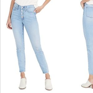 Madewell High Rose Crop Skinny Jeans